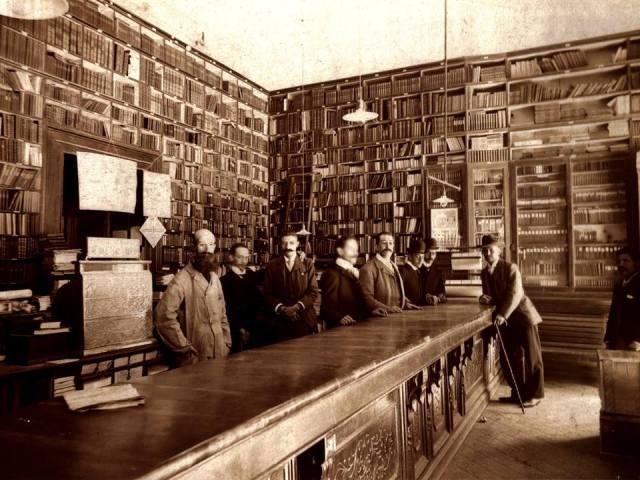 Antigua fotografía de la Librería de Murguía, en México.