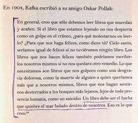 Kafka, los buenos libros
