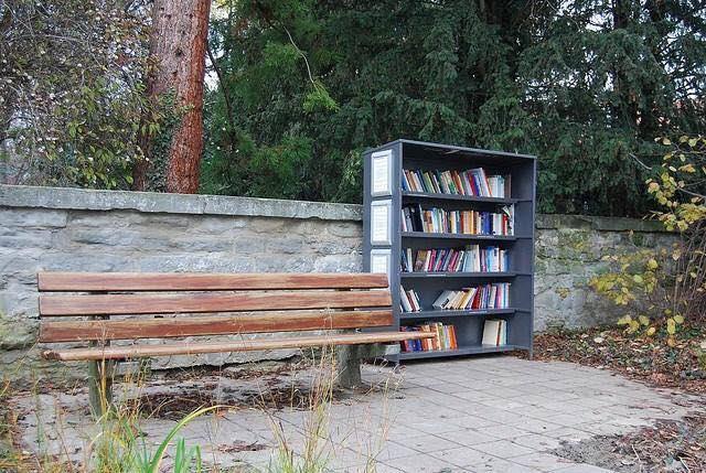 Biblioteca del parque de Überlingen, Alemania.