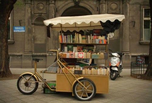 Biblioteca ambulante en Budapest
