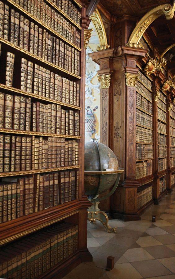Biblioteca de Melk Abbey, en Austria.