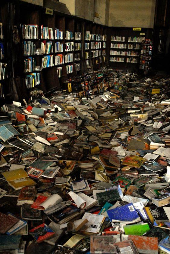 Biblioteca abandonada en Detroi