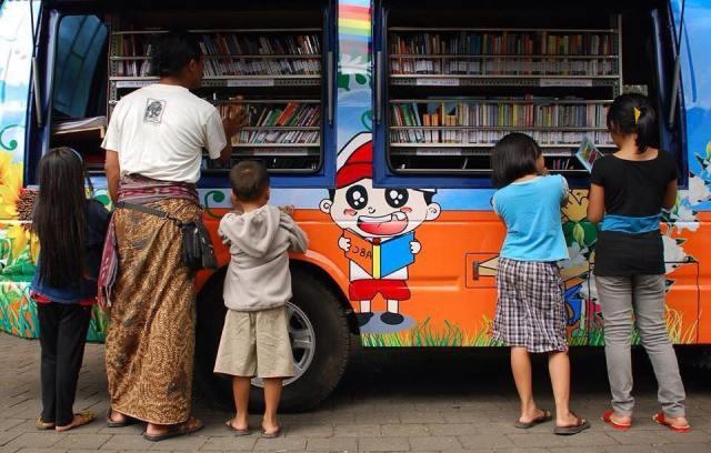 Bibliobus en Indonesia