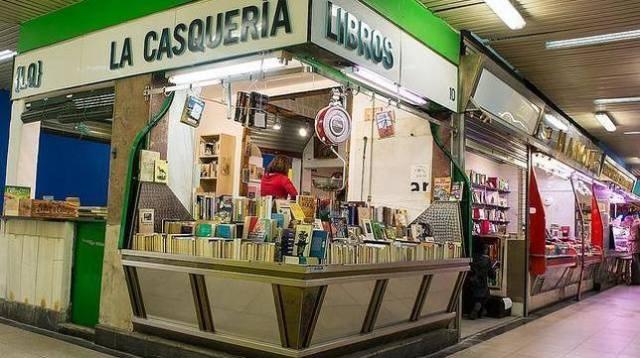 La casquería, libros al peso en Madrid.