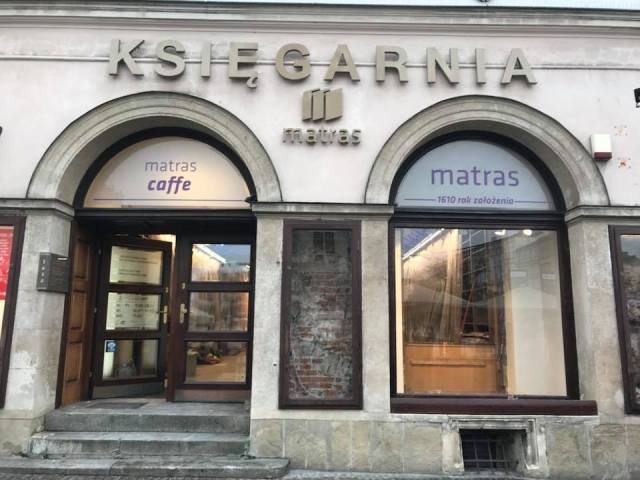 La histórica librería Matras de Cracovia, en reformas. 1
