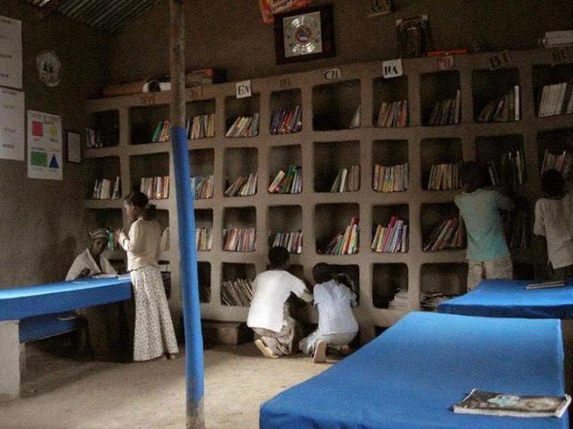 Biblioteca de Awra Amba (pueblo al Norte de Etiopía)
