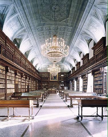 Biblioteca de bella artes, Milan, Italia