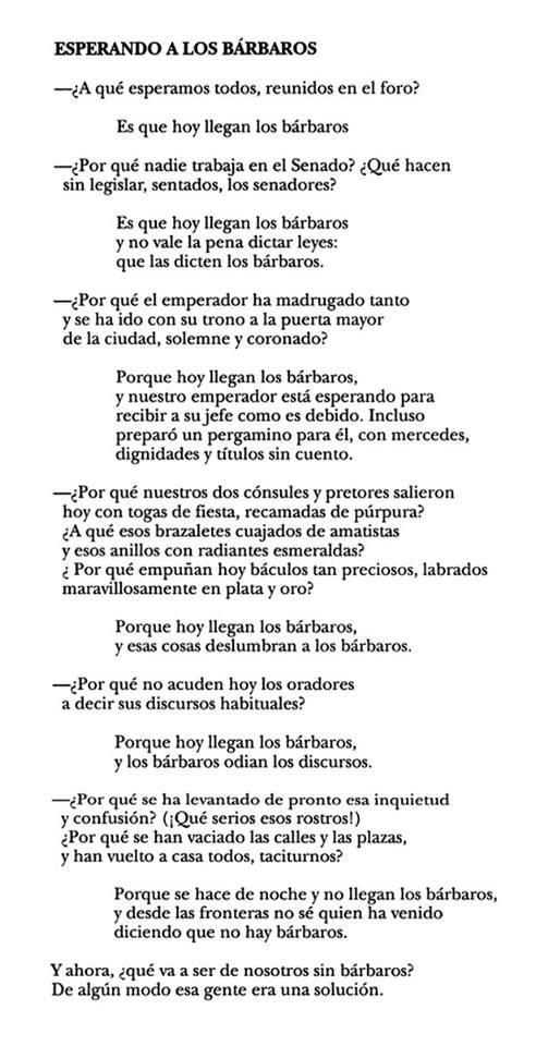 Poema de Kavafis