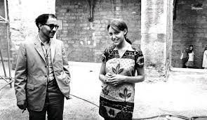 Anne Wiazemsky con J. L. Godard