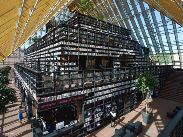 Biblioteca Book Mountain (Holanda)
