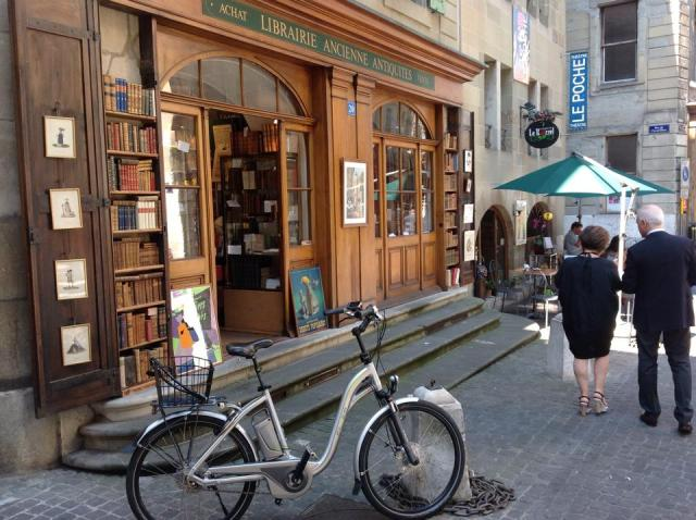 Librería anticuaria a cincuenta metros de la casa de Borges en Ginebra.1