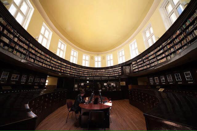 Biblioteca de la Universidad de Sofía (Bulgaria).