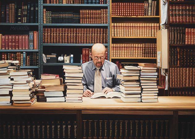 Strand Book Store, óleo hiperrealista de Max Fergurson