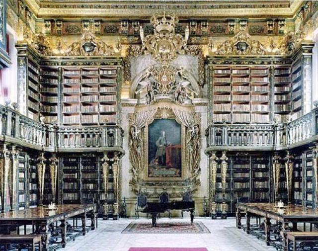 biblioteca de la universidad de coimbra (portugal)