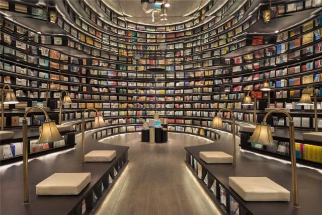 la nueva librería china que simula, mediante espejos, ser infinita, ser babel. 1